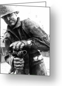 Fireman Boots Greeting Cards - Extinguish Greeting Card by Kevin Gilchrist