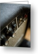 Amplifier Greeting Cards - Extreme Close-up Angled Shot Of An Amplifier Greeting Card by Christopher Kontoes