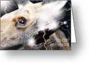 Surrealism Greeting Cards - Extreme Fear Greeting Card by Cathy  Beharriell