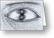 Eye On The Ball Greeting Cards - Eye Eight Study Number One Greeting Card by Michael Morgan