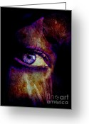 Trish Greeting Cards - Eye In The Night Greeting Card by Trish Clark