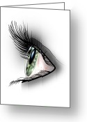 Lashes Greeting Cards - Eye Greeting Card by Julie L Hoddinott