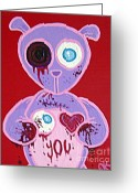 Keough Greeting Cards - Eye Love You Greeting Card by Dan Keough