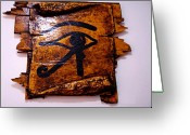 Amulet Greeting Cards - Eye Of Horus Greeting Card by Paulo Zerbato