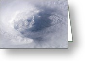 Isabel Greeting Cards - Eye Of Hurricane Isabel Greeting Card by Stocktrek Images
