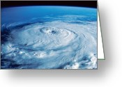 Disaster Greeting Cards - Eye Of The Hurricane Greeting Card by Stocktrek Images