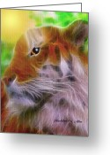 Smudgeart Greeting Cards - Eye Of The Tiger Greeting Card by Madeline M Allen