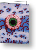 Eye Reliefs Greeting Cards - Eye Greeting Card by Sam Hane