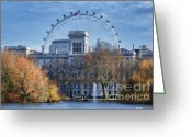 Lake Park Greeting Cards - Eyeing the View Greeting Card by Joan Carroll