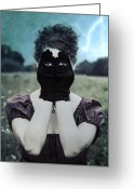 Scary Photo Greeting Cards - Eyes Greeting Card by Joana Kruse