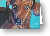 Turquoise And Brown Greeting Cards - Eyes of Love Greeting Card by Sandra Goldner