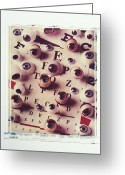 Concept Greeting Cards - Eyes on eye chart Greeting Card by Garry Gay