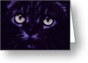 Fine Art Cat Greeting Cards - Eyes Straight To the Heart Greeting Card by Andee Photography
