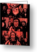 Masks Greeting Cards - Eyes Wide Shut 1 Greeting Card by Giuseppe Cristiano
