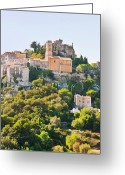 Green Day Greeting Cards - Eze, Cote Dazur, France Greeting Card by John Harper