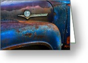 Trucks Greeting Cards - F-100 Ford Greeting Card by Debra and Dave Vanderlaan