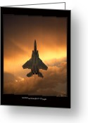 Jet Greeting Cards - F-15 Eagle Greeting Card by Larry McManus