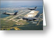 Eglin Greeting Cards - F-35 Lightning Ii Aircraft In Flight Greeting Card by Stocktrek Images