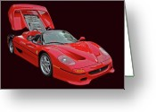 Super Car Greeting Cards - F 50 Greeting Card by Bill Dutting