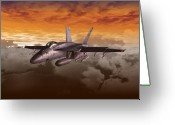 Airplane Greeting Cards - FA 18 number21 Greeting Card by Mike Ray