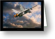 Military Artwork Greeting Cards - FA-18D Hornet Greeting Card by Larry McManus