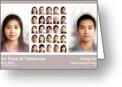 Morph Greeting Cards - Face of Tomorrow Hong Kong Greeting Card by Mike Mike