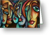 Large Group Greeting Cards - Face Us Greeting Card by Michael Lang