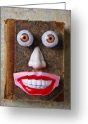 Reading Faces Greeting Cards - Facebook  Greeting Card by Garry Gay