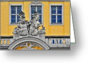 Nobody Greeting Cards - Faces of Places in Dresden Greeting Card by Christine Till