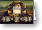 C Greeting Cards - Facet Reflections Greeting Card by Buddy Paul