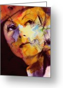 Greta Garbo Greeting Cards - Facets of Beauty Greeting Card by Stefan Kuhn