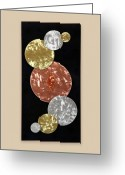 Textured Sculpture Greeting Cards - Facets Greeting Card by Rick Roth