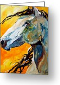 Pony Greeting Cards - Facing the Sun Greeting Card by Laurie Pace