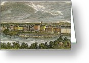 Merrimac Greeting Cards - Factories Of Lowell, Ma Greeting Card by Granger