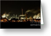 Pollute Greeting Cards - Factory Greeting Card by Nailia Schwarz