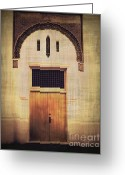 Screen Doors Greeting Cards - Faded Doorway Greeting Card by Perry Webster