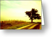 Blacktop Greeting Cards - Faded Sky Greeting Card by Jame Hayes