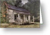 Back Porch Greeting Cards - Fading Memories Greeting Card by Debra and Dave Vanderlaan