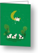 Cow Greeting Cards - Fail Greeting Card by Budi Satria Kwan