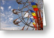 Amusement Ride Greeting Cards - Fair Day Greeting Card by Robert Frederick