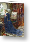 Peering Greeting Cards - Fair Rosamund Greeting Card by John William Waterhouse