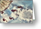 Kid Photo Greeting Cards - Fair Swings Greeting Card by Darren Fisher