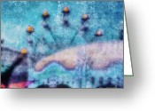 Ride Greeting Cards - Fairground Innocence Greeting Card by Andrew Paranavitana