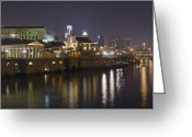 Philadelphia Greeting Cards - Fairmount Water Works - Philadelphia  Greeting Card by Brendan Reals