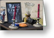 Oil Lamp Greeting Cards - Fairy Altar Greeting Card by Joshua Mills