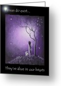 Surreal Art Painting Greeting Cards - Fairy Art by Shawna Erback Greeting Card by Shawna Erback