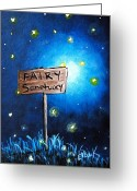 Fairies Art Greeting Cards - Fairy art by Shawna Erback The Fairy Sanctuary Greeting Card by Shawna Erback