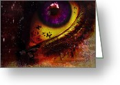 Ym_art Greeting Cards - Fairy Eye Greeting Card by Yvon -aka- Yanieck  Mariani