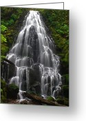 Pouring Greeting Cards - Fairy Falls Greeting Card by Todd Kreuter