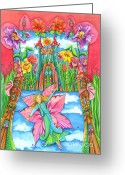 Childsroom Greeting Cards - Fairy Godmother Greeting Card by Sonja Mengkowski